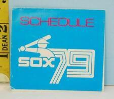 1979 Chicago White Sox Baseball Pocket Schedule