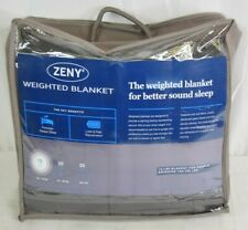 """ZENY 100% Cotton Weighted Gravity Blanket w/ Glass Beads GRAY 15Lbs 48"""" x 72"""""""