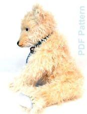 PDF Pattern Big Steiff Teddy Bear by Masha Kozlova Antique German Bear Big Paws