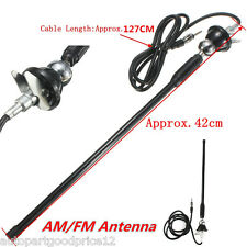 "16"" Universal Mount Swivel Base Car SUV AM/FM Radio Amplified Antenna Aerial Kit"