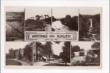 L@@K  Greetings from Ilkley 1900's ? Postcard Yorkshire