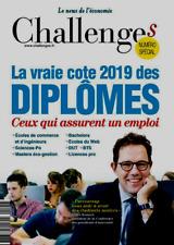CHALLENGES*09/01/2019*NEUF*SPÉCIAL CÔTE DES DIPLÔMES 2019 qui assurent 1 travail