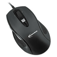 Innovera Full-Size Wired Optical Mouse USB Black 61014