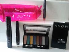AVON ROSA BAG ~ 8 in 1 Eyeshadow Palette ~ MASCARA ~ chiaro GLOSS ~ Sparkle Gloss