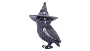 Nemesis Now Owlocen Witches Hat Occult Owl Figurine, Black, 13.5cm