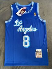 NWT Men's Kobe Bryant Jersey Los Angeles Lakers Hollywood BLUE # 8 Jersey 96-97