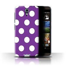 STUFF4 Case/Cover for HTC Desire 620G/Polka Dot Pattern/Purple