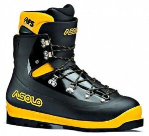 Asolo Men's 0M4002 AFS 8000 Black/Yellow Icewalls Ice Climbing Boots Shoes