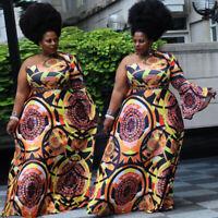 Womens Plus Size Dress One Shoulder Party Cocktail Maix Skirt Floral Clubwear