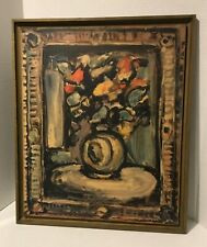 Georges Rouault Exhibition Poster 1960  Flowers in Vase Still Life