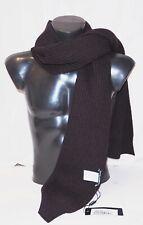 Dolce & Gabbana Heavy Rib Knit Aubergine Scarf:100% Virgin Wool Made Italy €345
