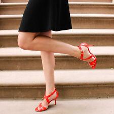 New sz 6 / 36 Jimmy Choo Lottie Flame Red Patent Leather Crisscross Sandal Shoe