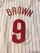 DOMONIC BROWN #9 PHILADELPHIA PHILLIES MAJESTIC MLB JERSEY FREE SHIPPING