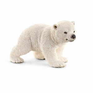 Schleich 14708 Polar Bear Cub Running 2 13/16in Series Wild Animals