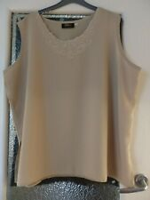 New, Beige Sleeveless TOP by Exell London. Size 18/20
