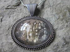 VINTAGE PHOTO OF WOMEN IN WITCH'S COSTUMES GLASS CABOCHON NECKLACE - HALLOWEEN