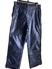 SKYR Mens Vintage Retro Insulated Ski Snow Pants Side Zip Navy Size Medium M