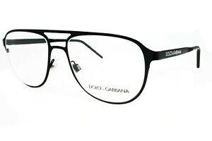 Dolce & Gabbana DG 1317 1106 Matt Black Demo Lens Men's Eyeglasses Optical Frame