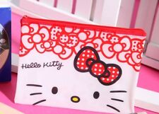 Licensed Hello Kitty Pencil Case Stationary Cosmetic Makeup Pouch Bag BNWT Cute