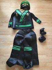 Lego Ninjago Movie Kids Green Black Loyd Halloween Costume Size Small 4-6