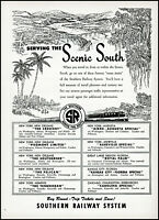 1952 Southern Railway Railroad train scenic south vintage art print ad ads10