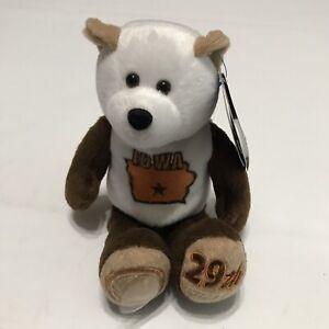 "Coin Bear #29 Iowa State Collectible Stuffed Plush 9"" Bear Ltd Treasures"