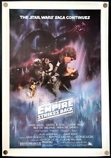 The Empire Strikes Back 1980 Original Movie Poster Linen Backed Recalled Gwtw