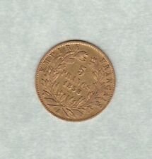 1858A FRANCE 5 FRANCS GOLD COIN IN VERY FINE CONDITION