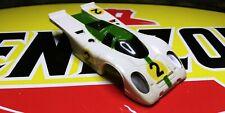 Vintage Aurora Afx  PORSCHE 917 White/Green #2 Slot Car Body.