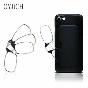 Thinoptics Mini Nose Clip Armless Reading Glasses + Pod Original Attached Case
