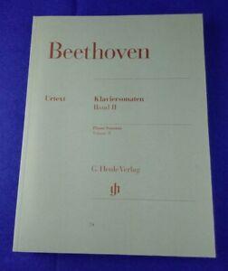 Ludwig van Beethoven: Sonaten für Klavier, Klaviersonaten Band II, Henle Verlag