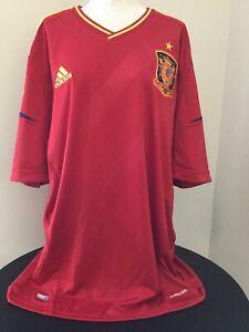 Spain Jersey 2012 2013 Home XL Shirt Adidas Football Soccer