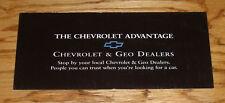 Original 1996 Chevrolet & Geo Advantage Foldout Sales Brochure 96 Chevy Camaro