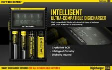 Nitecore D4 Charger  18650 26650 IMR UNIVERSAL LIFEP04 BATTERY UK