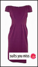 LADIES WOMENS PER UNA PURPLE DRESS WIGGLE BUSINESS OFFICE WORK CORPORATE UK 10