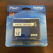 Brother Tze231 Black Print On White Laminated Tape For P Touch Label Maker