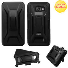 For Samsung Galaxy A5 (2017) Black/Black Advanced Armor Stand Case w/Holster