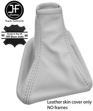 WHITE TOP GRAIN REAL LEATHER GEAR GAITER FITS MERCEDES SPRINTER 2001-2005