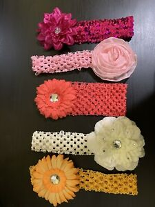 Baby/girls hairbands 5 pieces multicolor good condition