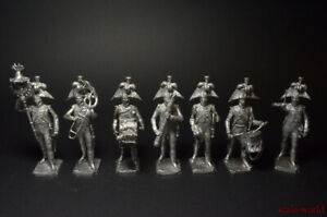 Tin soldiers Set Orchestra of the French Grenadiers 1812 7 figures 54mm