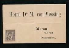 French Victorian (1837-1901) French & Colonies Cover Stamps