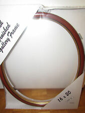 Wooden Oval Frame Walnut with Gold Lip  16x20'' Made by HY-JO-453/16