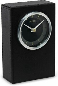 New Citizen ⏱ Decorative Black Leather Tabletop Clock With Box