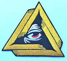 All seeing eye providence conspiracy Freemason Iron On Patch Embroidered horror