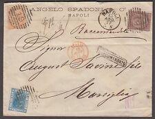 Raccomandata da Napoli per Marsiglia bella tricolore lotto V/P 60