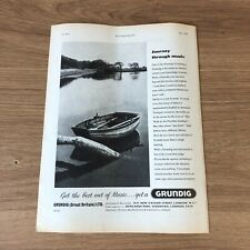 """(STG)Jun1959Pg52 Advert11x8"""" Grundig Ltd, For Getting The Best Out Of Music"""