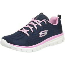 Skechers Graceful Get Connected Womens Blue Pink Running Trainers Shoes Size 4-8