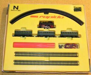 Spur N ARNOLD rapido 044 Nebenbahnzug aus den 60igern in Originalverpackung