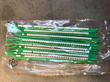 Kabelmarkierer Stäbchen grün Nr. 0 bis 8 neu