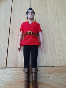 Disney Store Beauty & The Beast Classic Poseable Gaston 12 inch Doll RARE